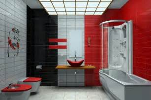 Red And Black Bathroom Ideas by Red Bathroom Accessories Rugs D 233 Cor Ideas Modern