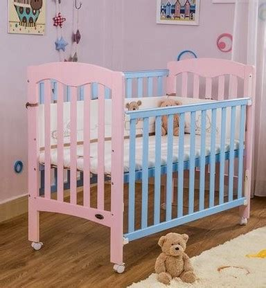 Solid Green Crib Bedding Pink Removable Cribs Solid Wood Lacquer Green Bed Baby Bed Newborn Crib In Baby Cribs From