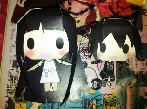 Kirito Papercraft - gigant yui and mini kirito chibi papercraft by kazgamaegi