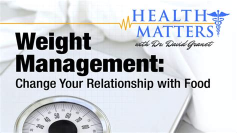weight management matters change your relationship with food novel weight