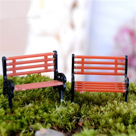mini park bench mini garden ornament miniature park bench craft fairy