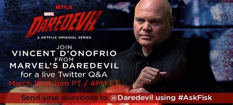 vincent d onofrio wilson fisk interview askfisk twitter q a three if by space