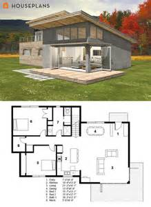 modern cabin house plan freegreen energy efficient plans floor houses inside home
