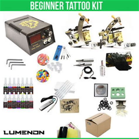 tattoo kits with good ink tattoo kit 2 machine gun 14 color ink tip power supply set