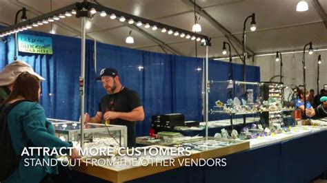 outdoor craft show lighting led booth trade show display lighting upgrade jewelry