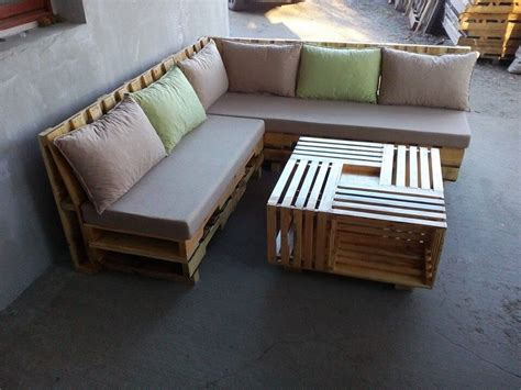 sofa made from pallets wooden pallet l shape sofa set