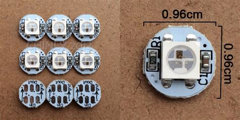Jual Led Smd Jakarta jual ws2812b led with heatsink 10mm 3mm dc5v 5050 smd