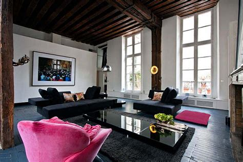black and pink living room large living room with black sofa and pink lounge decoist
