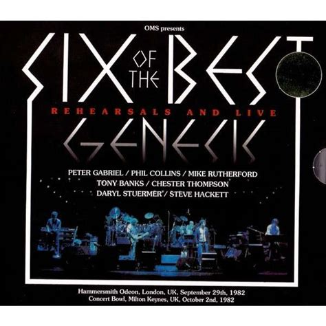 genesis best of six of the best by genesis cd x 4 with avefenixrecords