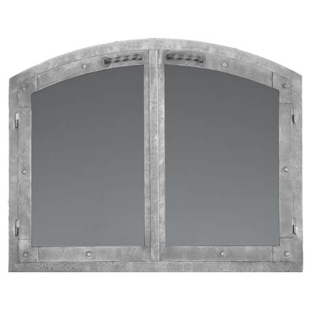 Arched Fireplace Glass Doors Forgecraft Arched World Fireplace Glass Door Woodlanddirect Fireplace Doors Forgecraft