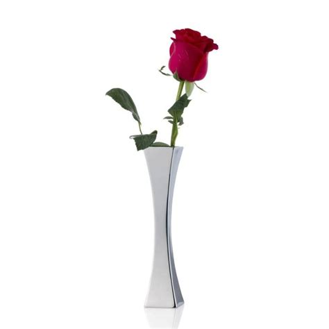 Single Flower Vase by Brief Modern Stainless Steel Prism Vase Small Desktop Vase