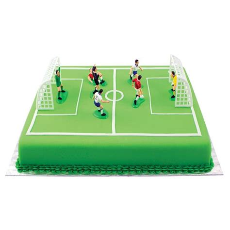 White And Green Kitchen - pme football cake topper set 9 piece from ocado