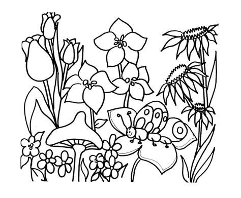 spring garden coloring pages spring flowers coloring page az coloring pages