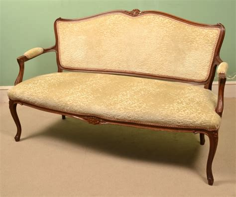 Regent Antiques   Sofas and stools   Antique French Walnut Sofa / Settee c.1900