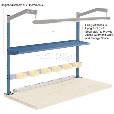 cantilever bench brackets work bench systems adjustable height 60 quot w x 12 quot d