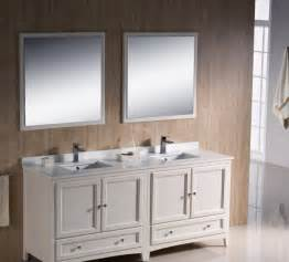 Bathroom Double Sink Vanity Ideas by Classic White Vanity With Elegant Double Sink Design For