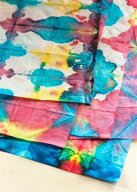 Tie Dye Paper Craft - 37 creative diy tie dye ideas that will color your world