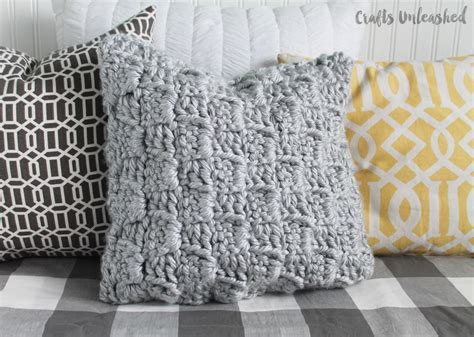 crochet pillow pattern chunky stairstep stitch tutorial