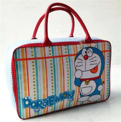 Tas Travel Hello Doraemon perlengkapan anak motif doraemon toko bunda