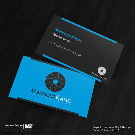 Business Card Template With And Logo by Photographer Business Card And Logo Design By Marwanzahran