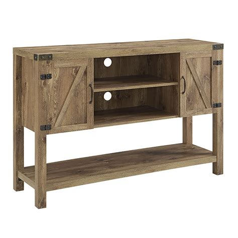 Bathroom Mats Large by 52 Quot Barn Door Buffet Table Console Tv Stand Barnwood