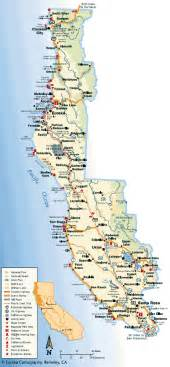 california coast cities map realty maps