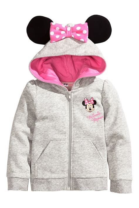 Jaket Minnie Mouse Hm 26 F hooded jacket gray minnie mouse sale h m us