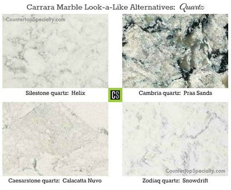 Quartz Countertops Marble Look which granite looks like white carrara marble
