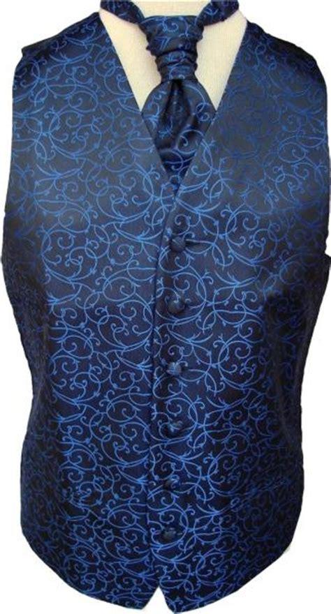 blue pattern waistcoat mens swirl pattern brocade waistcoat cravat or tie or