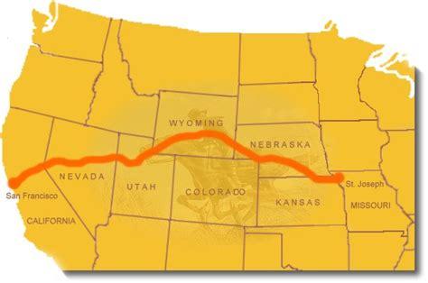 california trail map kansas ihaveseentheelephant pony express