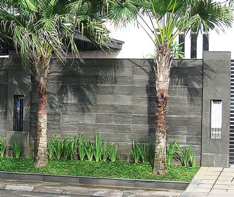 contoh pagar rumah batu alam ndik home