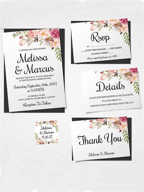 Wedding Invitation Layout Design by 16 Printable Wedding Invitation Templates You Can Diy