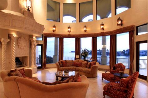 Venetian Living Room by Venetian Style Waterfront Palazzo Mediterranean Living