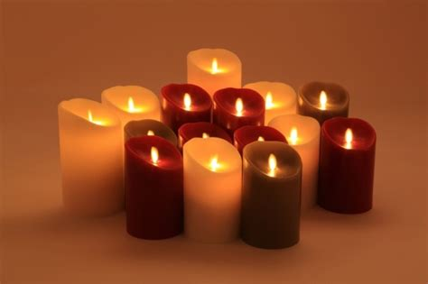 luminara candele candele a led luminara rosse