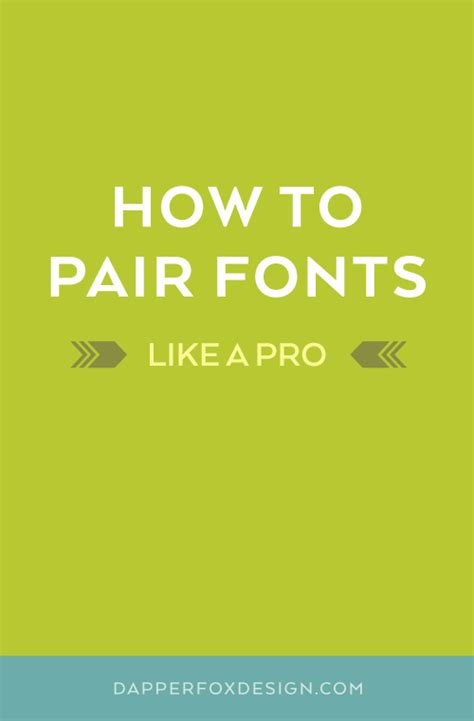 how to pair fonts like a pro logo design website