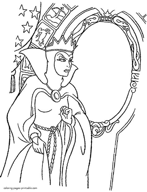 evil queen coloring page the evil queen coloring pages
