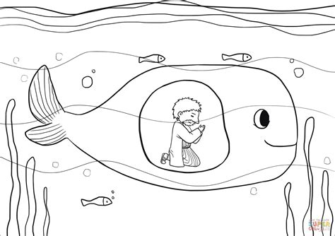bible coloring pages jonah jonah was in the belly of the fish three days and three
