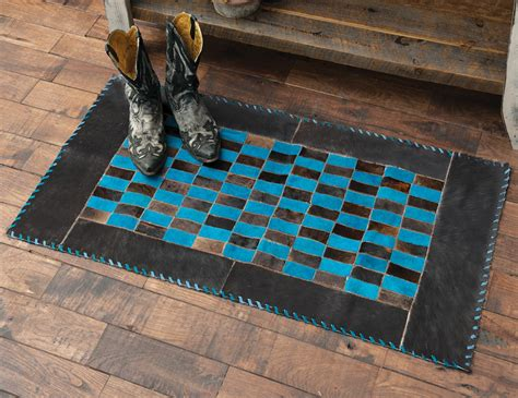 Turquoise Cowhide Rug by Southwest Rugs Turquoise Dyed Cowhide Rug Lone