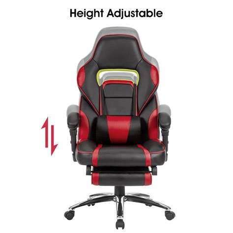 High Chair With Adjustable Footrest by Racing Car Swivel Gaming Computer Office Chair With Padded