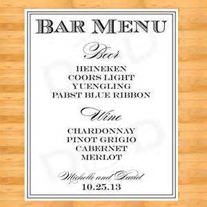 Wedding Drink Menu Template Unavailable Listing On Etsy