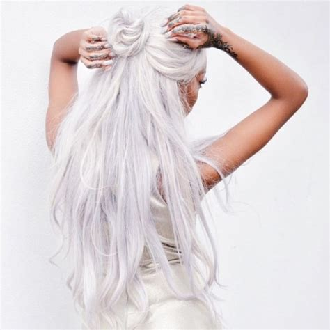 wemen with pleats in hair on pinerest white hair on tumblr