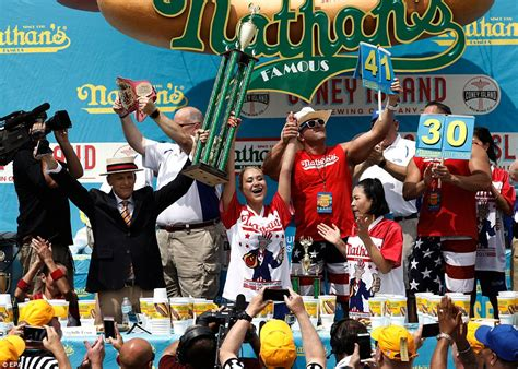 female hot dog eating contest winner nathan s famous hotdog contest starts on coney island