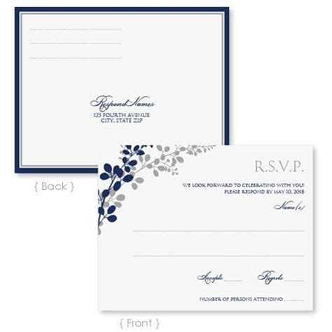 wedding rsvp postcard template instant download