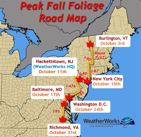 northeast pattern works inc how the weather impacts fall foliage weatherworks