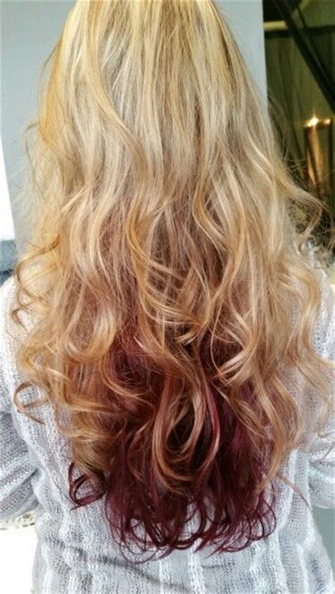 highlights with lowlights underneath highlights lowlights blonde foils with dark red violet