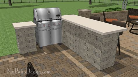 grill station and outdoor kitchen plans on pinterest