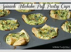 Spinach Artichoke Puff Pastry Cups - LeMoine Family Kitchen Meat Spinach Cheese Pastry