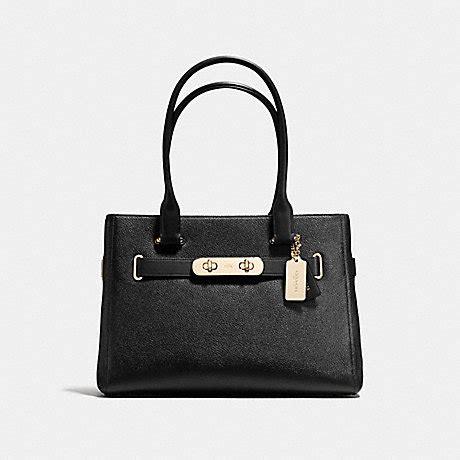 Coach Swagger Black Flower coach f36488 coach swagger carryall light gold black coach handbags