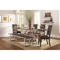 rustic dining set with bench buy 6pc genoa rustic table and chair set with dining bench