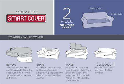 how to measure a couch for a slipcover com maytex collin stretch 2 piece slipcover
